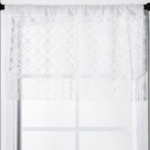 Sheer window valence